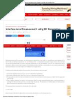 Interface Level Measurement Using DP Transmitter Instrumentation Tools