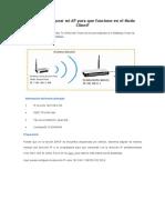 Cómo Configurar Mi AP Para Que Funcione en El Modo Client