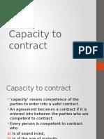 Capacityt to Contract