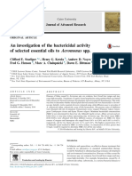 An investigation of the bactericidal activity of selected essential oils to Aeromonas spp.