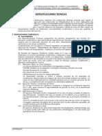 Especificaciones Técnicas ACTUALIZADAS