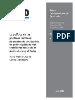 La política de las políticas públicas- Re-examinando la calidad de las políticas públicas y las capacidades del Estado en América Latina y el Caribe.pdf