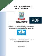 Reglamento PPbR 2017