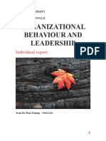 Organizational Behaviour and Leadership
