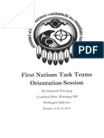 First Nations Task Teams Orientation-Winnipeg Jan. 12, 2017