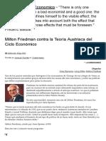 Economia - Adrián Ravier - Milton Friedman Contra La Teoría Austriaca Del Ciclo Económico