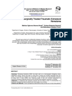 Outcome of Surgically Treated Traumatic Extradural Hematoma (2016)