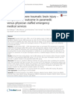 Pre-hospital Severe Traumatic Brain Injury – Comparison of Outcome in Paramedic Versus Physician Staffed Emergency Medical Services (2016)