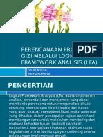 Perencanaan Program Gizi Melalui Logical Framework Analisis (