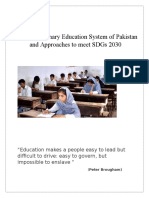 Status of Primary Education System of Pakistan