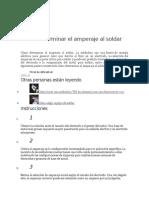 Cómo Determinar El Amperaje Al Soldar