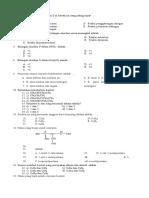 Soal Kimia Kelas X