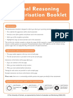 Verbal Reasoning Familiarisation Paper DAO 2015
