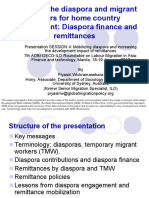 Engaging the diaspora and migrant workers for home country development diaspora finance and remittances