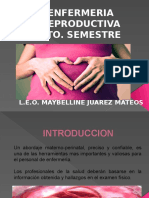 5to. Semestre Enfermeria Reproductiva. Temario Actual