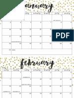 OhSoLovelyBlog 2016 Calendar Metallic Dot