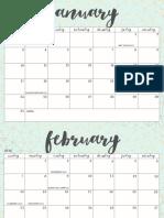 OhSoLovelyBlog 2016 Calendar Aqua Crosshatch2