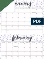 OhSoLovelyBlog 2016 Calendar Geo 2