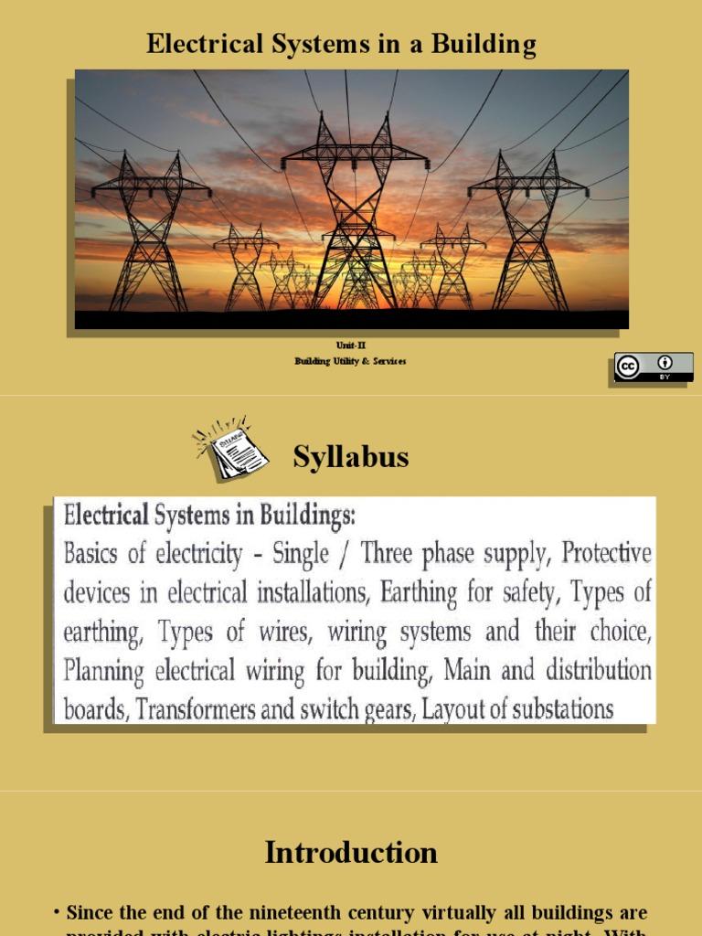 Electricalsystemsinabuilding 150911082119 Lva1 App6892   Electrical ...