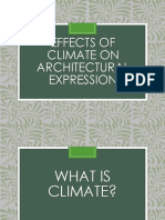 Effects of Climate on Architectural Expression