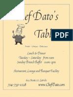 Chef Datos Table Menu 1