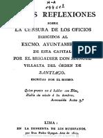 Breves Reflexiones Sobre La Censura Lima 1811