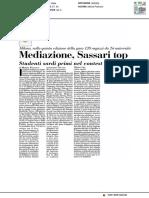 Mediazione, Sassari al top - Italia Oggi del 27 febbraio 2017