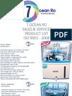 7 ocean product list