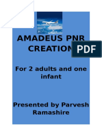 Amadeus Pnr Creation