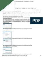 Crear Un Dc en Microsoft Windows Server 2012