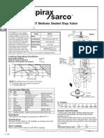 BSA3T Bellows Sealed Stop Valve-Technical Information