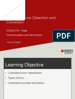 Week 5 – Error Detection and Correction(1)