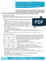 RTDS Simulator Software Power and Control System Component Libraries