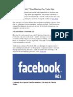 O Que é Facebook Ads - Dicas Matadoras Para Vender Mais.