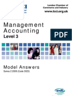 Management Accounting Level 3/Series 2 2008 (Code 3023)