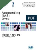 Accounting (IAS) Level 3/Series 2 2008 (Code 3902)