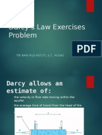 Darcy's Law Exercise and Problems