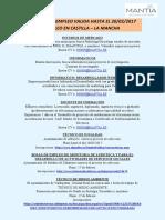 Ofertas de Empleo Febrero 2017