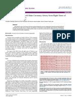 Anomalous Origin of Left Main Coronary Artery From Right Sinus Ofvalsalva a Case Report 2329 9495 1000160