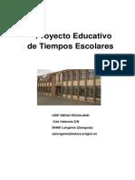 Tiempos Escolares Validado CP DIEGO ESCOLANO (Longares)