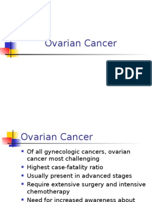 Ovarian Cancer Ovarian Cancer Cancer