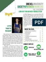 Drexel SWE Fall 2016 Newsletter