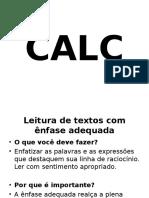 CALC - Leitura Com Ênfase
