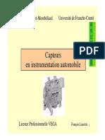 DOC CAPTEURS Capteurs Automobile
