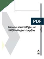 GRP vs HDPE (जी आर पी    एवं    एच डी पी ई पाइप  की तुलना )