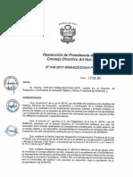 Resolución N°048-2017-SINEACE-CDAH-P