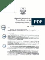 Resolución N°050-2017-SINEACE-CDAH-P
