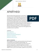 apartheid - facts   summary - history