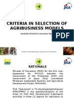 Agribusiness Model Tool