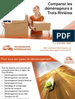 Choisir parmi les compagnies de déménagement à Trois-Rivières